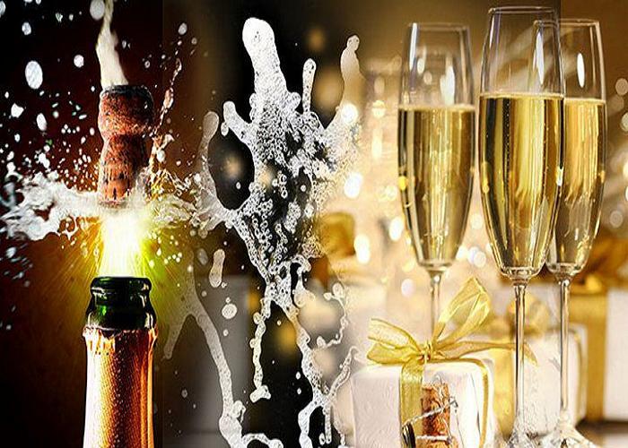 С днем рождения картинка с шампанским